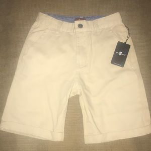 NWT Boys Khaki Shorts 7 For All Mankind Size 8